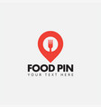food pin logo design template isolated vector image vector image
