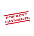 For Rent Payments Watermark Stamp vector image vector image