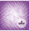 Geometry purple background design vector image vector image
