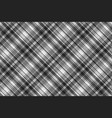gray check fabric texture seamless pattern vector image
