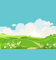 green grass blue sky vector image vector image