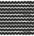 Hand drawn seamless pattern with wavy brush vector image vector image