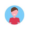 happy caucasian boy face avatar little child male vector image