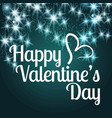 happy valentines day card with glitters vector image