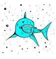 icon mascot shark handdraw image vector image vector image