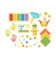Kids creativity creation symbols set