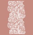lacy vintage trim vector image