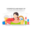 make up beauty woman concept banner vector image