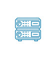 network routers linear icon concept network vector image
