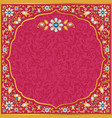 ornate wedding invitation in gold and red vector image vector image