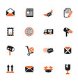 post service icon set vector image vector image