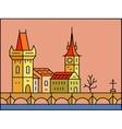 Prague cityscape icon vector image