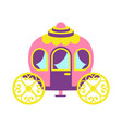 princess party carriage poster vector image vector image