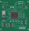 printed circuit board background vector image