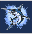 realistic blue marlin fish vector image
