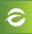 round green abstract logo vector image vector image