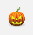 scary jack lantern halloween pumpkin with a vector image vector image