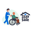 senior patient protection stay safe concept an vector image vector image