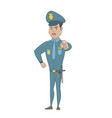 serious hispanic police officer pointing at you vector image
