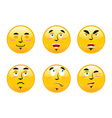 Set of emoticons on white background Cartoon vector image vector image