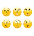 Set of emoticons on white background Cartoon
