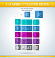 Set of Flat Graphic Styles for Design vector image