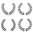 set of oak wreaths of different shapes isolated vector image vector image