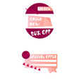 set of trendy flat geometric elements banners in vector image vector image