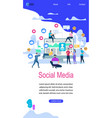 social media vertical banner with copy space vector image vector image