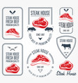 steak house and butchery labels and emblems vector image