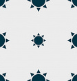Sun icon sign Seamless pattern with geometric vector image