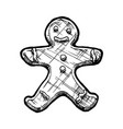 tasty cookie vector image vector image