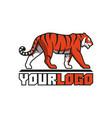 tiger going logo sign emblem animal vector image