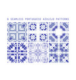 tile pattern lisbon floral mosaic vector image