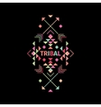 Tribal logo with geometric shapes vector image vector image