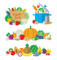 Vegan food vector image vector image