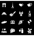white paris icon set vector image vector image