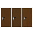 Wooden doors with different texture vector image vector image