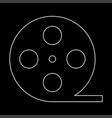 film strip white color path icon vector image