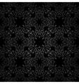 Seamless black pattern vector image