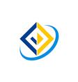 square color construction tech logo vector image