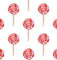 Watercolor tasty lollipop in vintage style vector image
