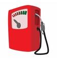 Gas station cartoon icon vector image