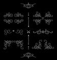 Ornate filigree borders frames design elements vector image
