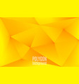 yellow abstract geometric background polygon vector image