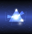 abstract triangle design vector image vector image