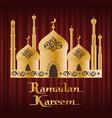 arabic festive ramadan kareem religion vector image vector image