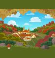 autumnal landscape vector image