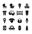 Baby born icons set simple style vector image
