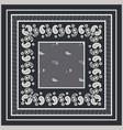 bandana paisley square print design vector image